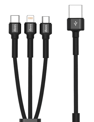 Long 3-in-1 Data Cable